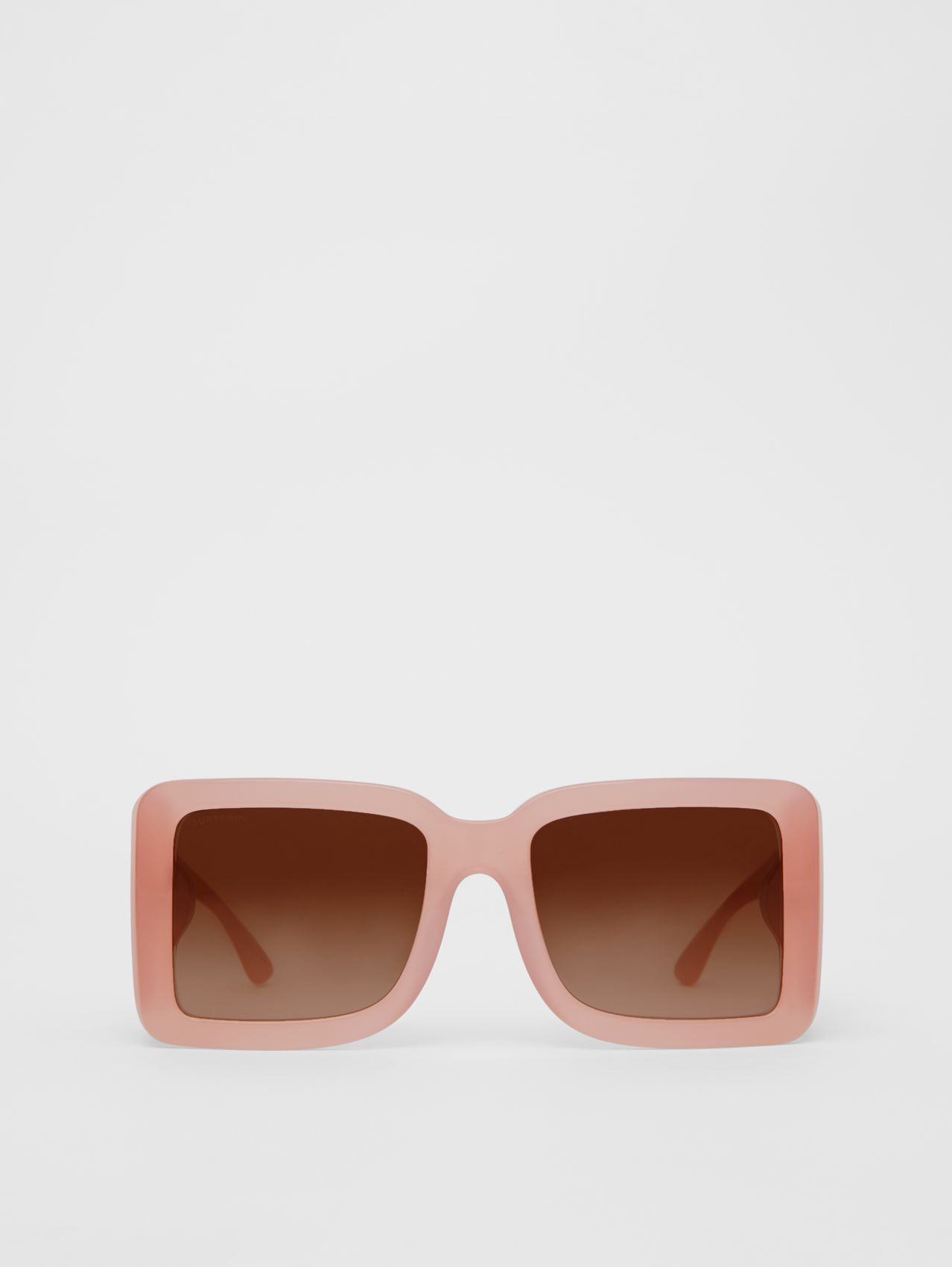 B Motif Square Frame Sunglasses in Pink