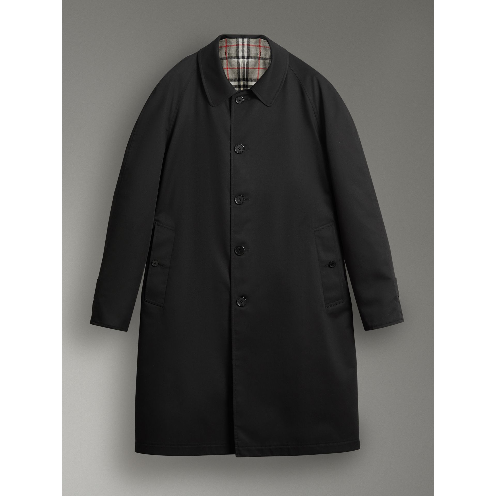 Reissued Reversible Car Coat in Black - Men | Burberry - gallery image 3