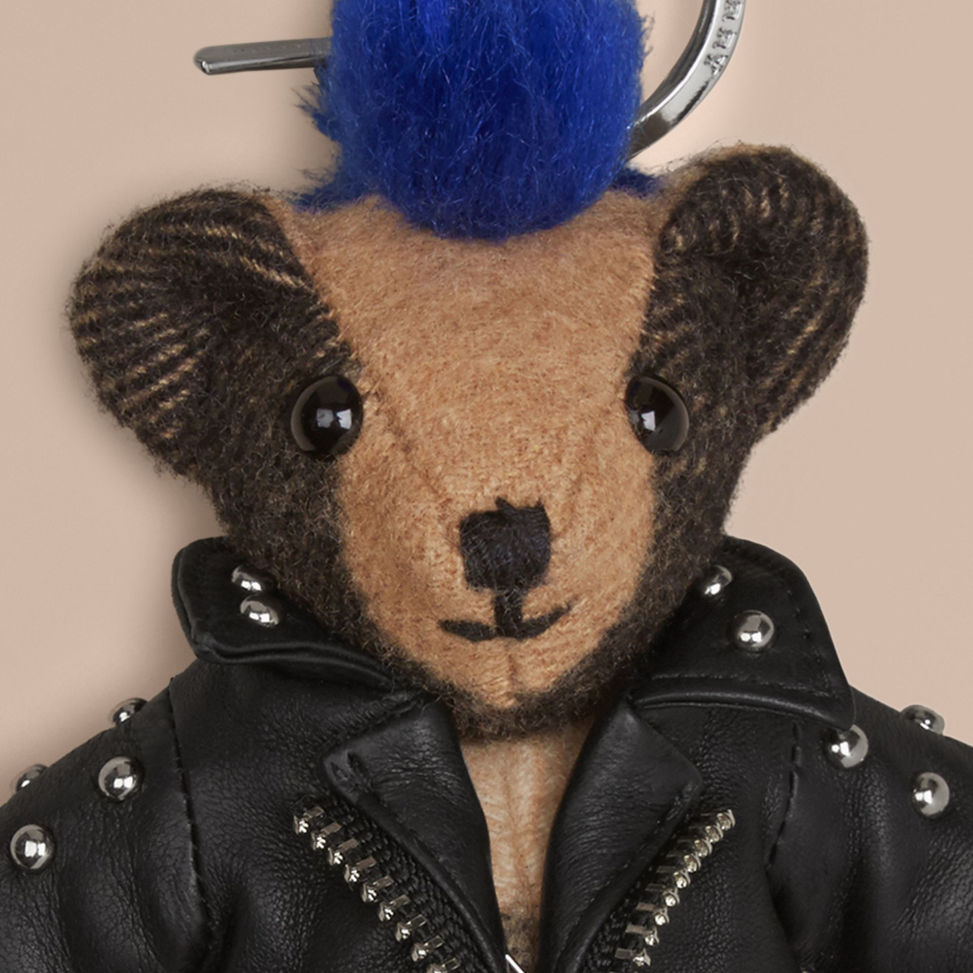 The Punk Thomas Bear Charm in Camel | Burberry - gallery image 2