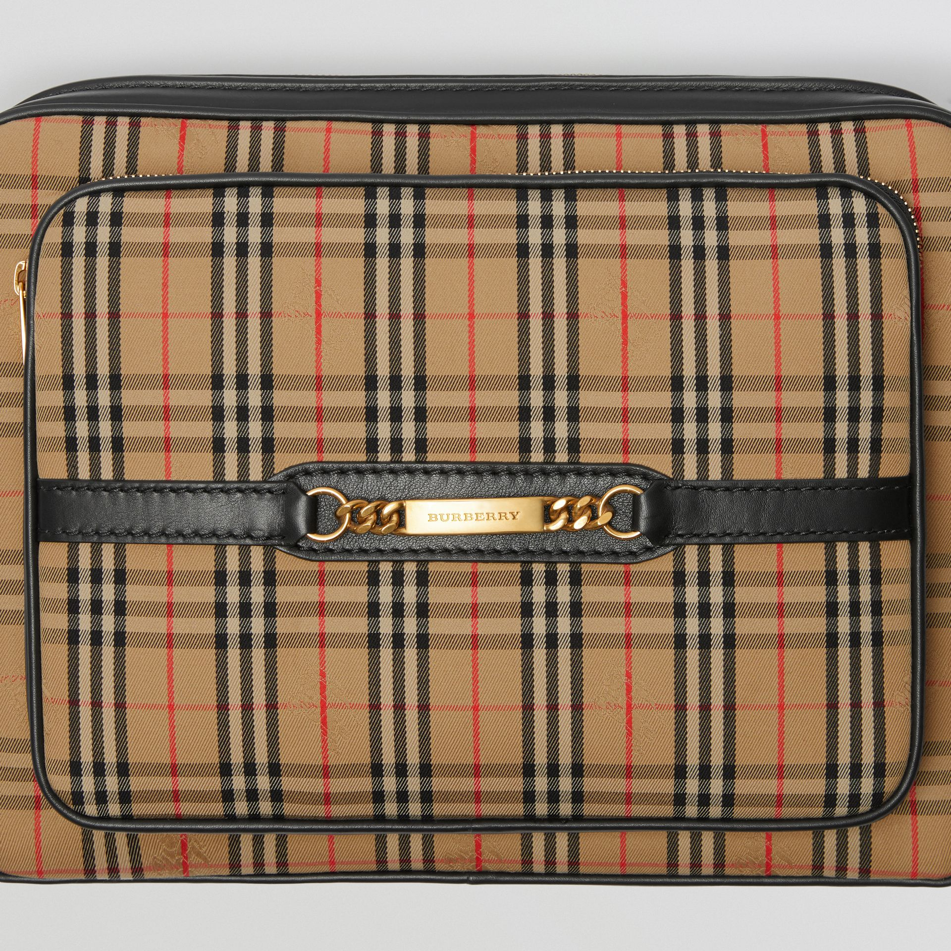 The Large 1983 Check Link Camera Bag in Black - Men | Burberry United Kingdom - gallery image 1