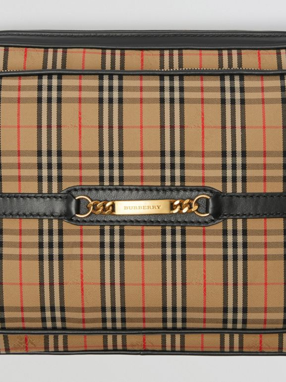 The Large 1983 Check Link Camera Bag in Black - Men | Burberry United Kingdom - cell image 1