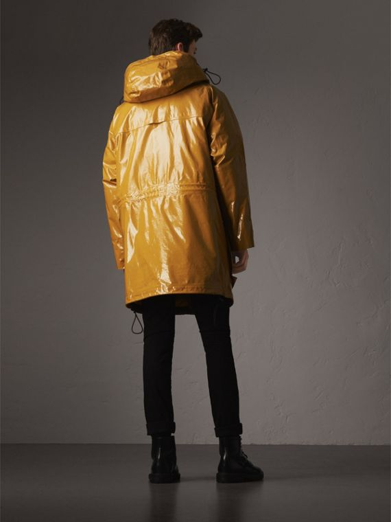 Seam-sealed Weatherproof Coat with Down-filled Warmer in Amber Yellow - Men | Burberry - cell image 2