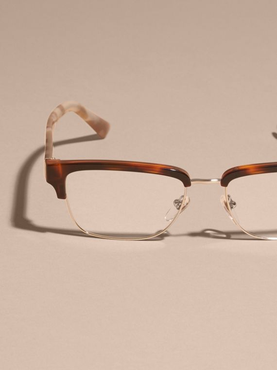 Light russet brown Half-rimmed Oval Optical Frames Light Russet Brown - cell image 2