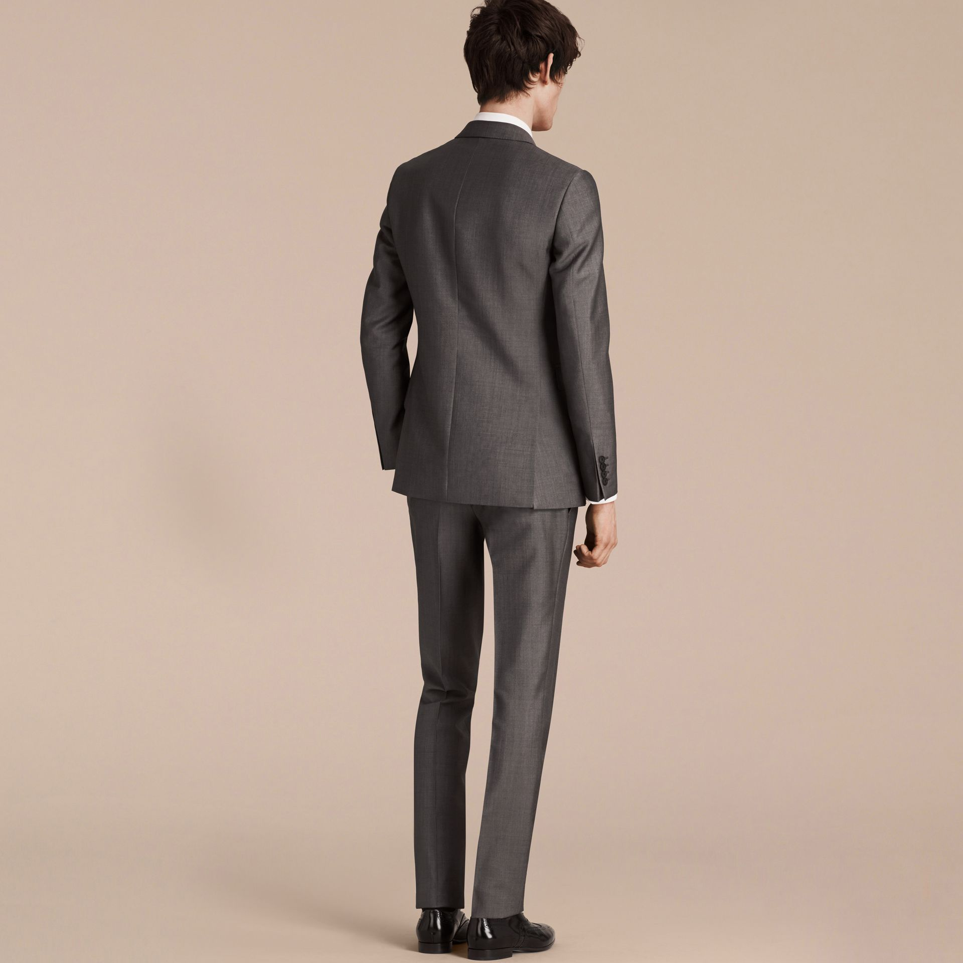 Mid grey The Chelsea – Slim Fit Wool Mohair Suit Mid Grey - gallery image 2