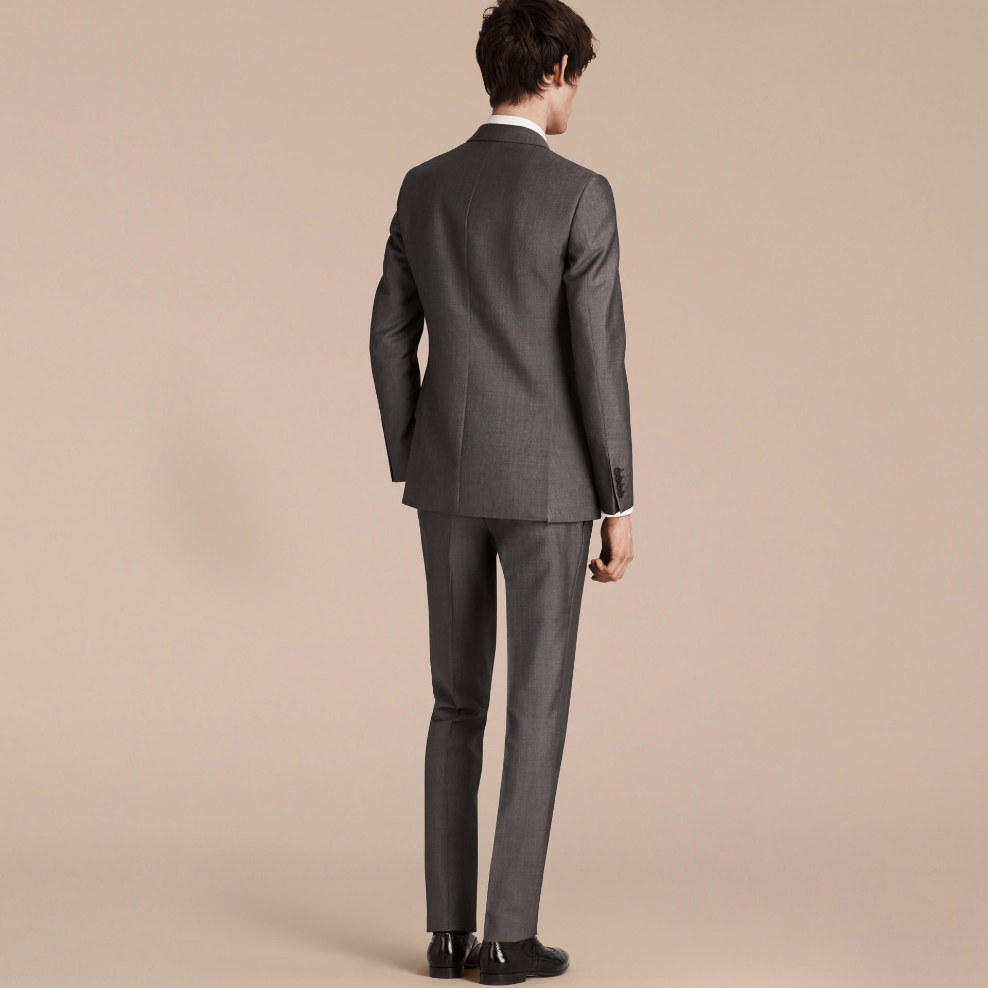 Mittelgrau The Chelsea – Körperbetonter Anzug aus Wolle und Mohair Mittelgrau - Galerie-Bild 2