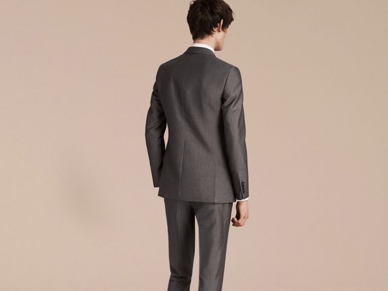 Mid grey The Chelsea – Slim Fit Wool Mohair Suit Mid Grey - cell image 1