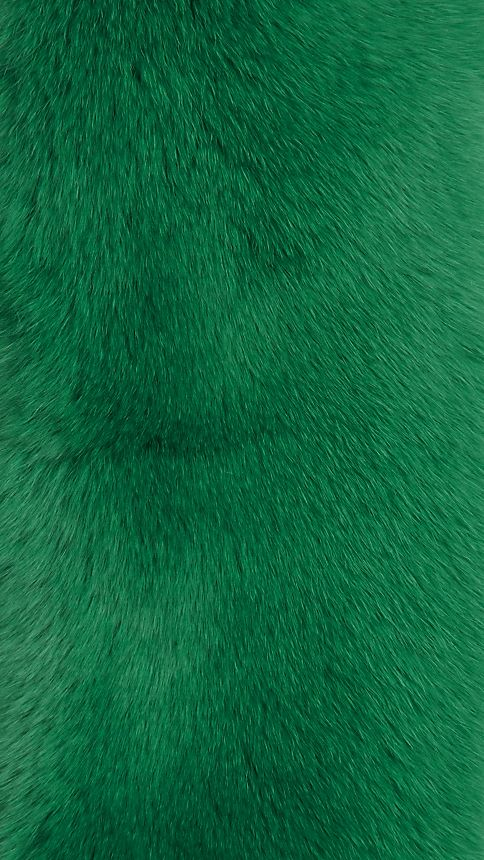 Bright pine green Rabbit Fur Collar - Image 3