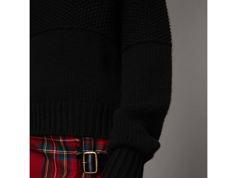 Cashmere Roll-neck Sweater in Black - Women | Burberry Singapore - cell image 4
