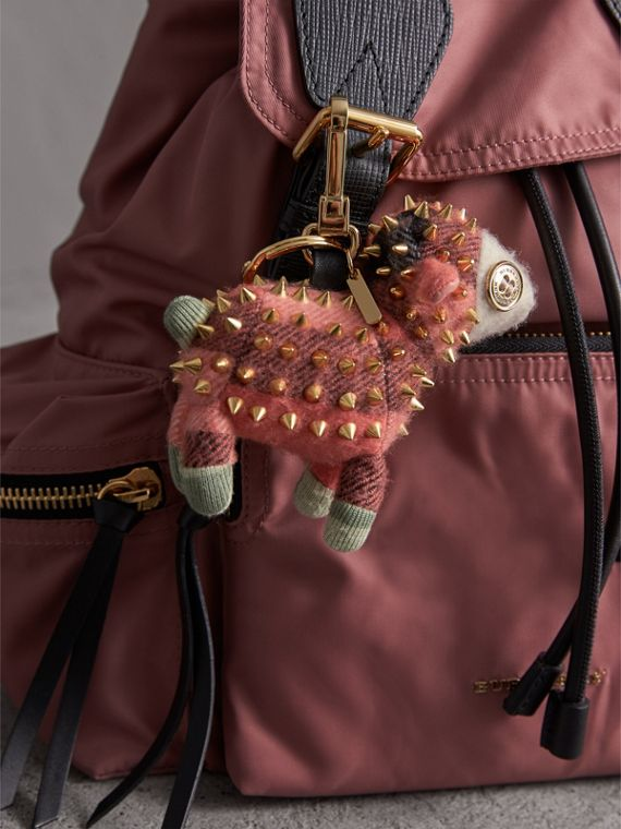 Wendy The Sheep Cashmere Charm in Coral | Burberry United Kingdom - cell image 2