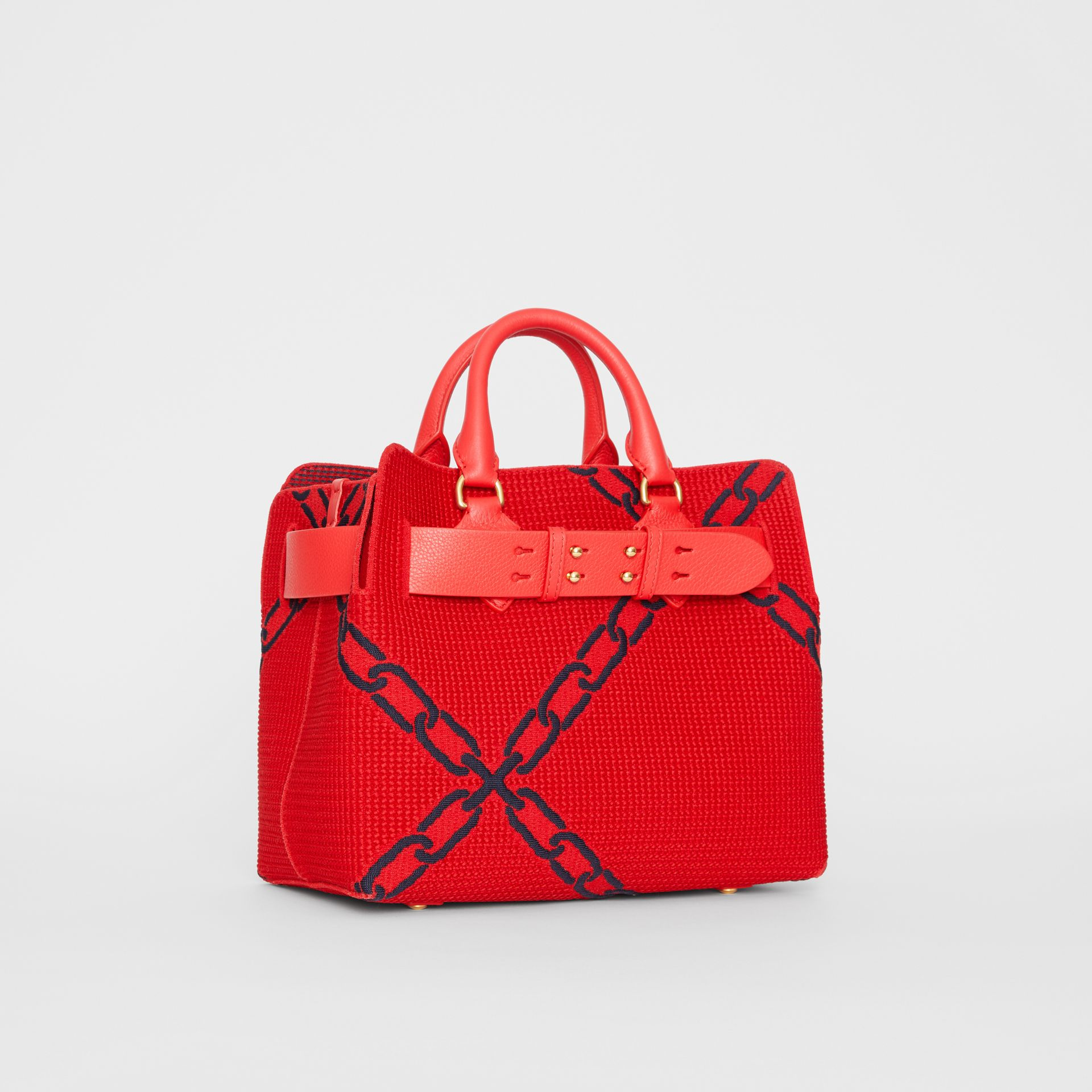 The Small Belt Bag mit Kettenmuster in Strickoptik (Leuchtendes Rot/blau) - Damen | Burberry - Galerie-Bild 4