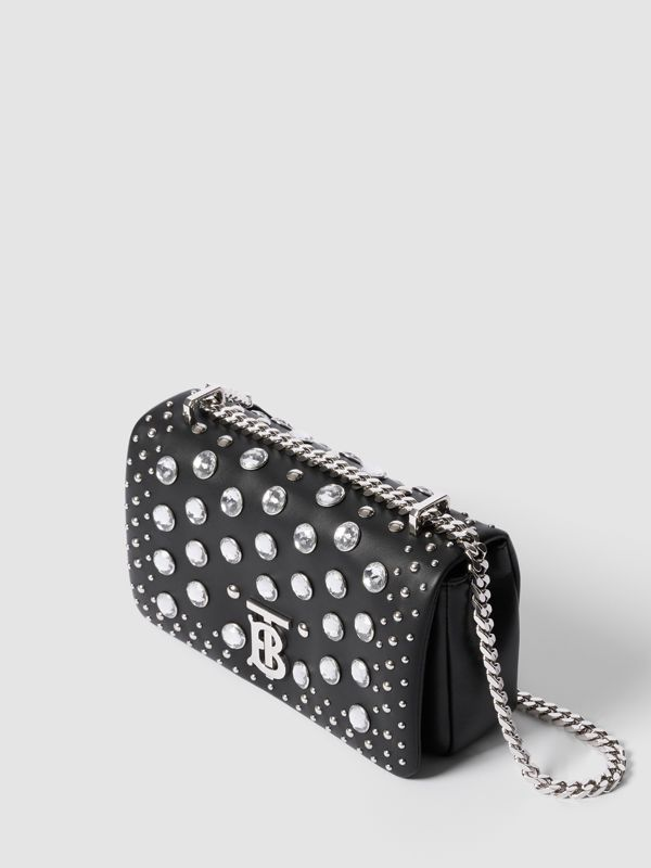 Small Embellished Lambskin Lola Bag in Black - Women | Burberry - cell image 3