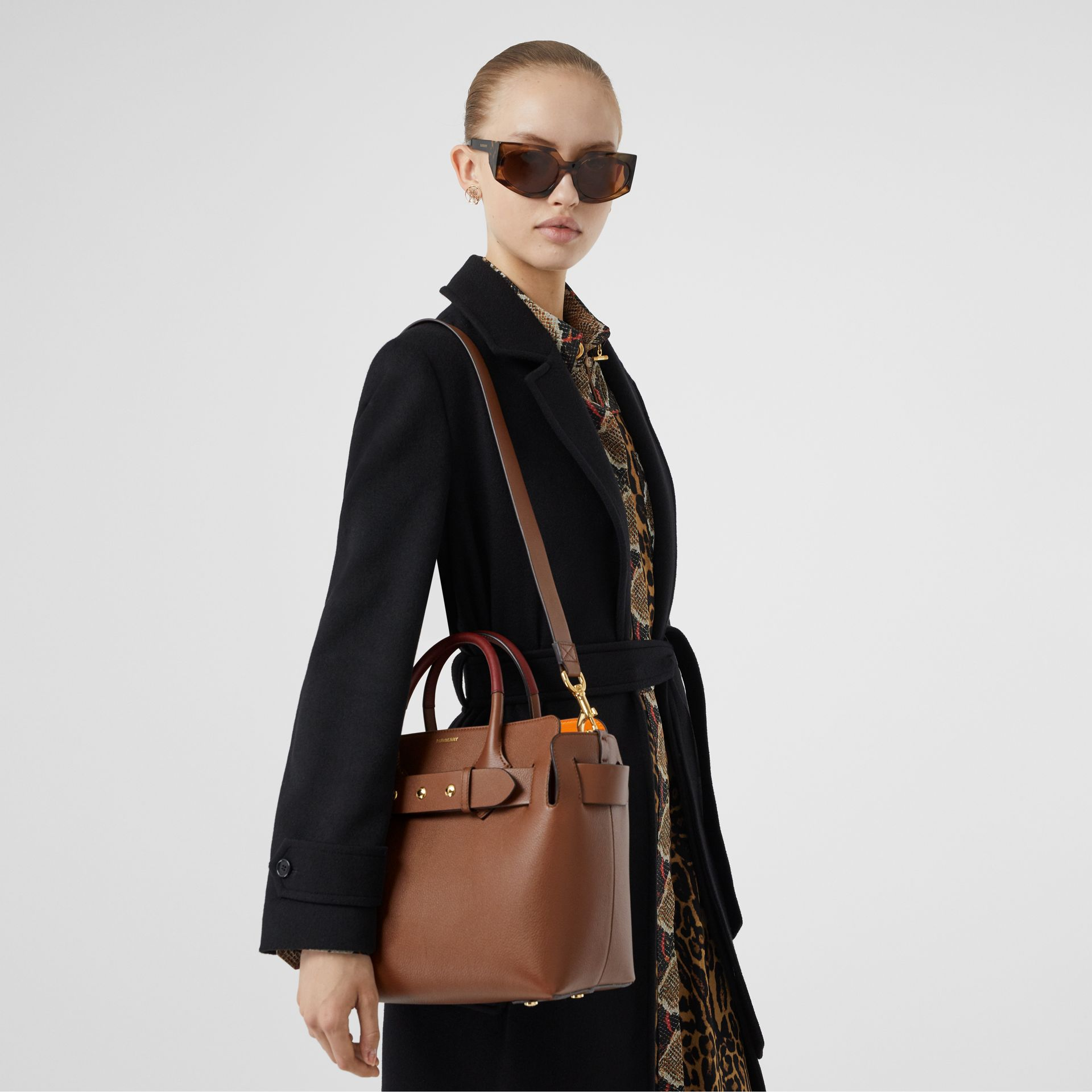 The Small Leather Triple Stud Belt Bag in Tan - Women | Burberry United Kingdom - gallery image 2