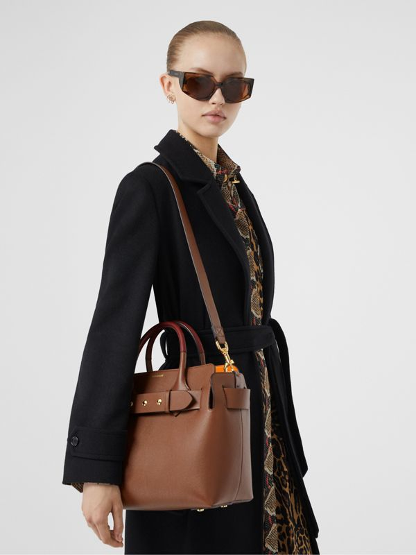 The Small Leather Triple Stud Belt Bag in Tan - Women | Burberry United Kingdom - cell image 2