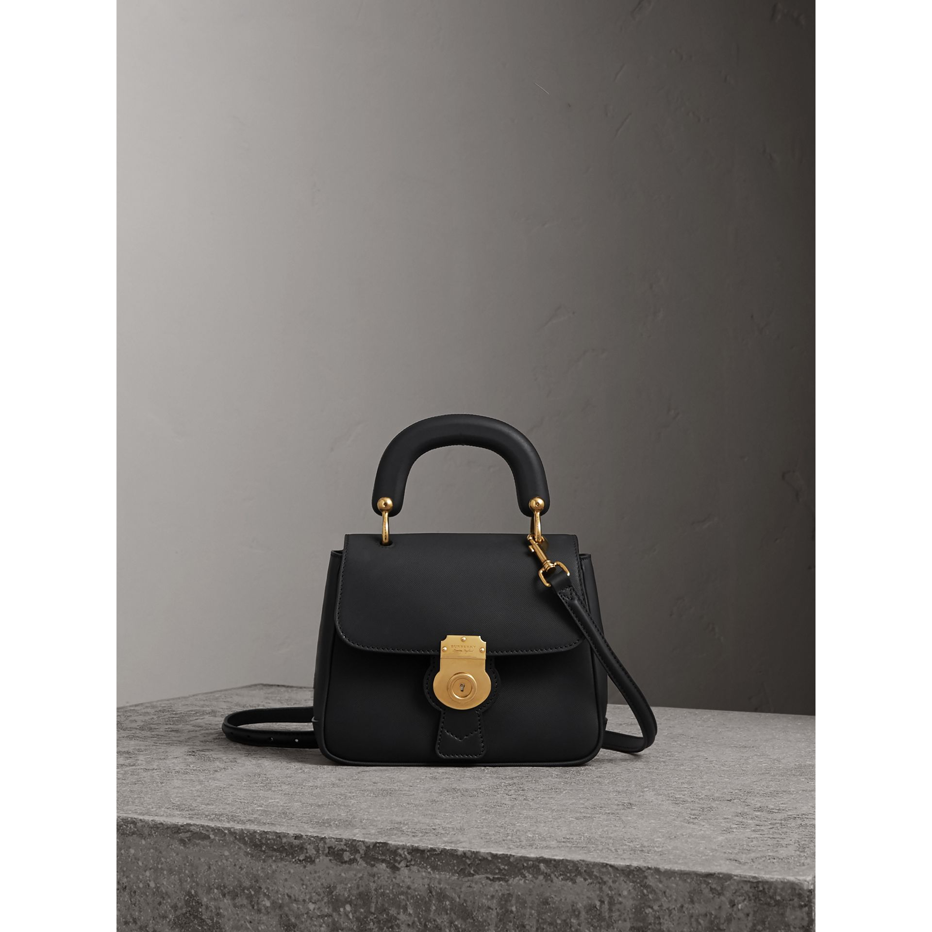 The Small DK88 Top Handle Bag in Black - Women | Burberry - gallery image 1