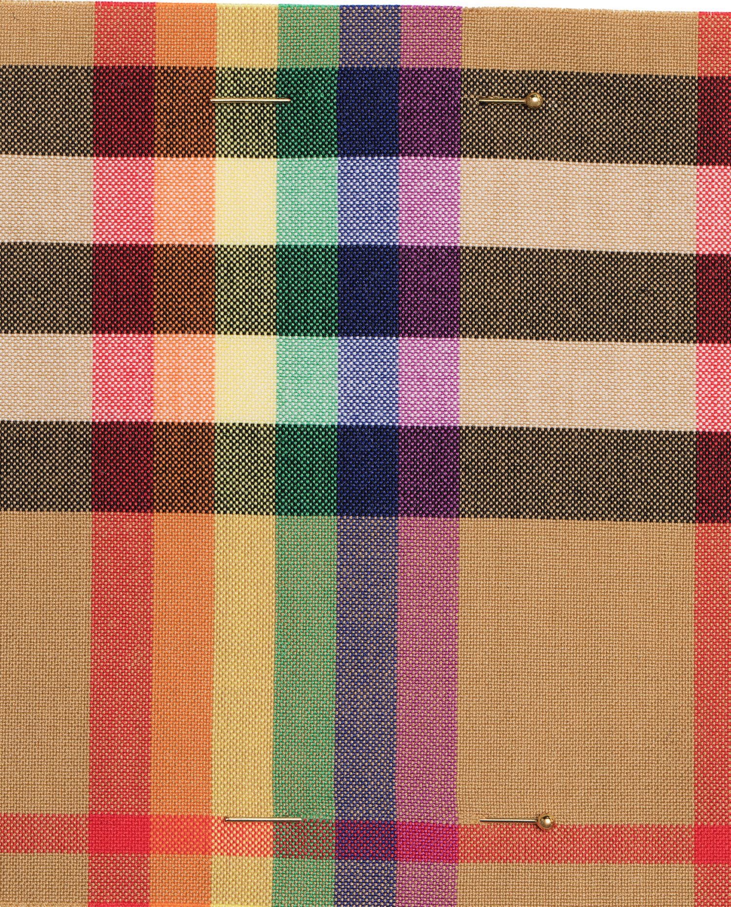 Burberry celebrates diversity and inclusivity with the Rainbow Vintage check throughout its February collection and makes donations to three leading organisations – the Albert Kennedy Trust, the Trevor Project and ILGA – all dedicated to supporting LGBTQ+ youth around the world.