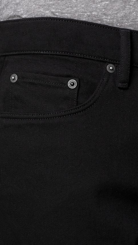 Black Slim Fit Deep Black Jeans - Image 3