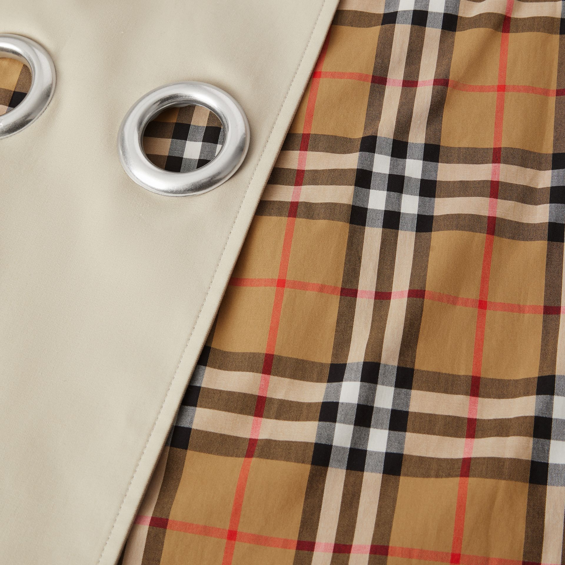 Grommet Detail Cotton Gabardine Trench Coat in Stone - Women | Burberry - gallery image 9