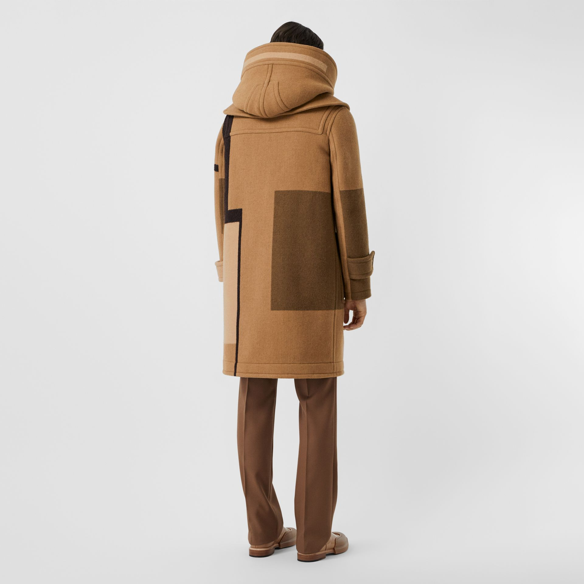Panelled Wool Duffle Coat in Warm Camel - Men | Burberry Singapore - gallery image 2