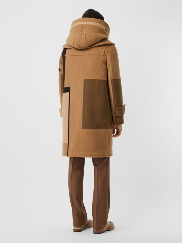 Panelled Wool Duffle Coat in Warm Camel - Men | Burberry - cell image 2