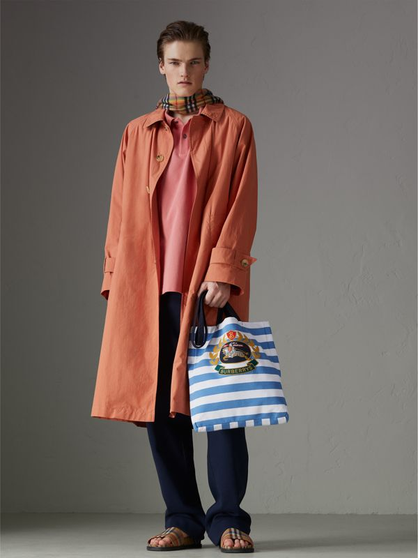 Archive Logo Striped Jersey Tote in Sky Blue/white | Burberry Canada - cell image 3