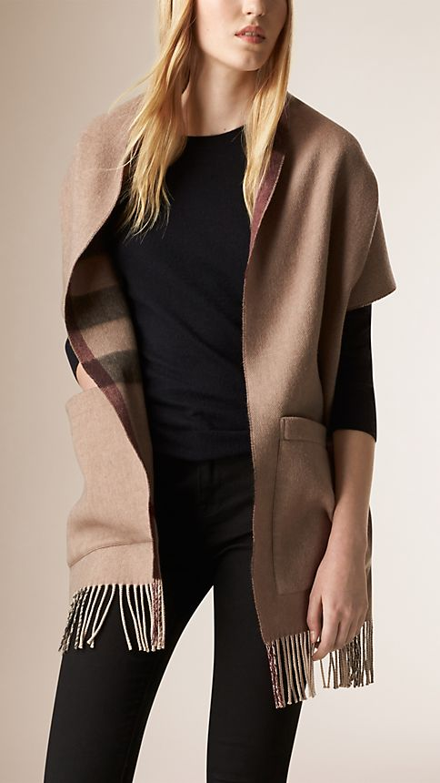 Smoked trench check Check Wool Cashmere Stole - Image 1