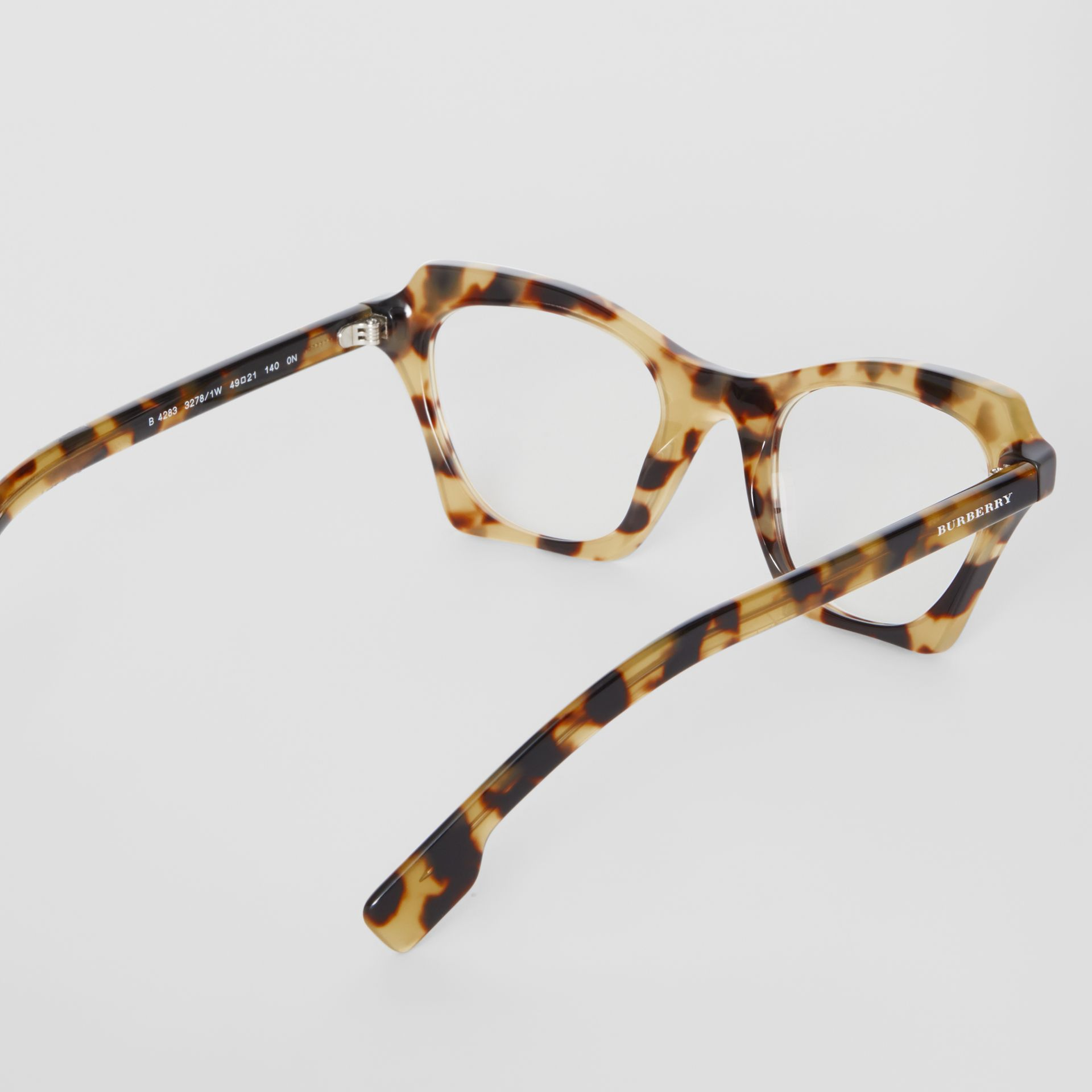 Butterfly Optical Frames in Tortoise Shell - Women | Burberry United Kingdom - gallery image 4