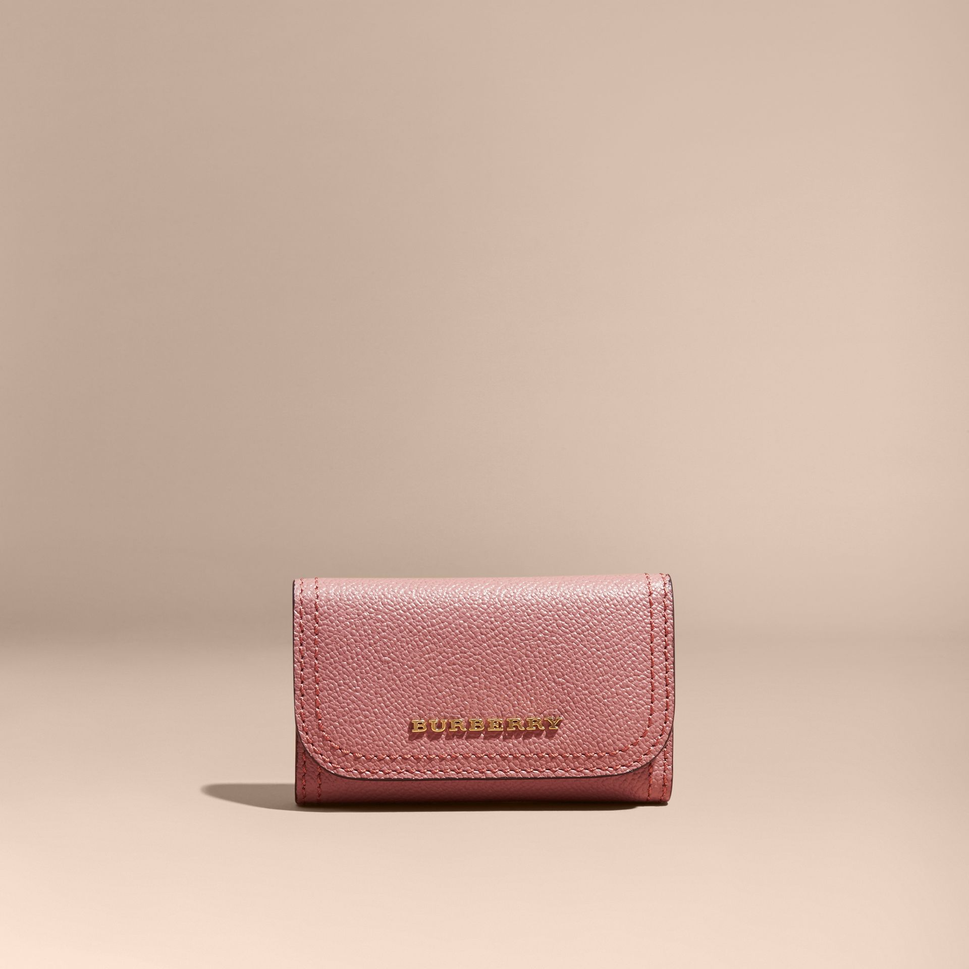 Grainy Leather Key Holder in Dusty Pink - Women | Burberry - gallery image 6