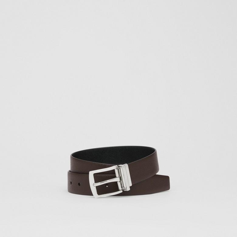 Burberry - Cinturón reversible en piel granulada - 1
