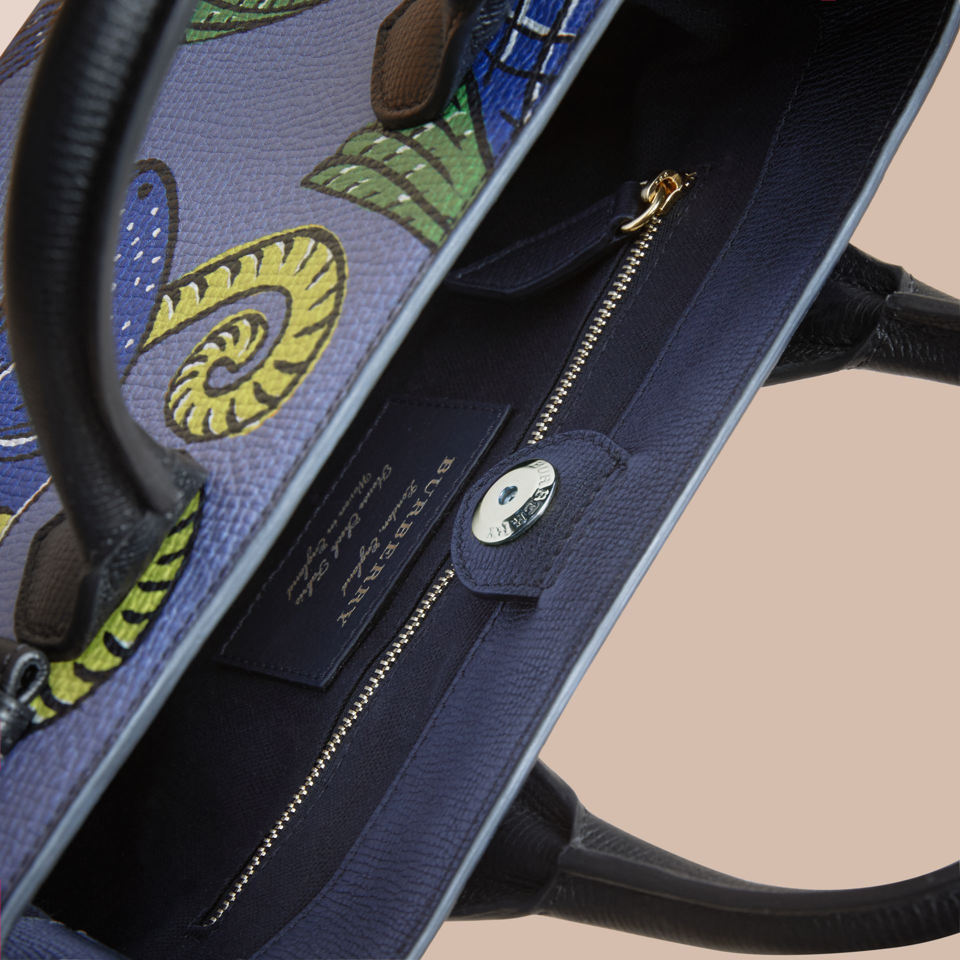 The Small Banner in Beasts Print Leather - Women | Burberry - gallery image 6