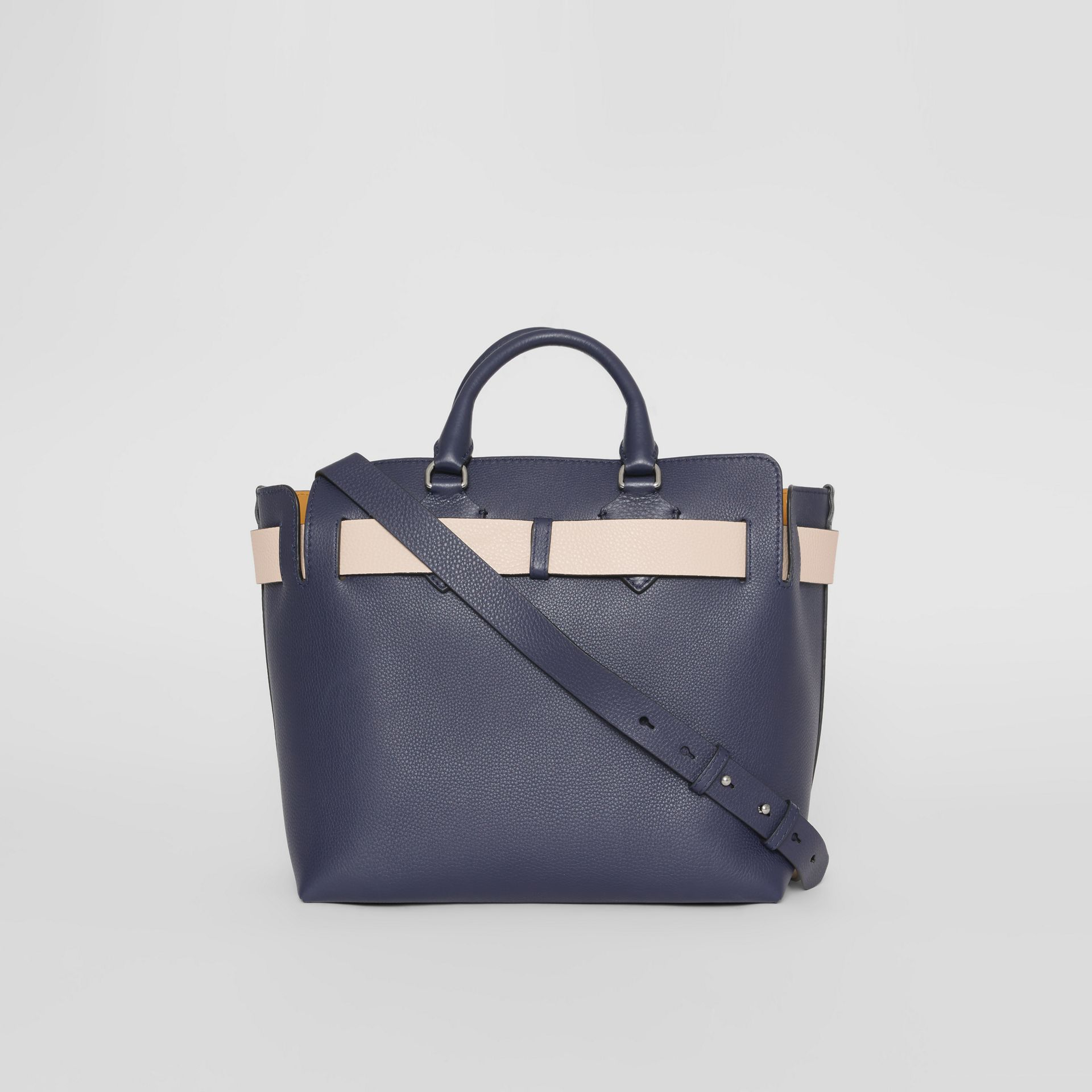 The Medium Leather Belt Bag in Regency Blue - Women | Burberry United Kingdom - gallery image 7
