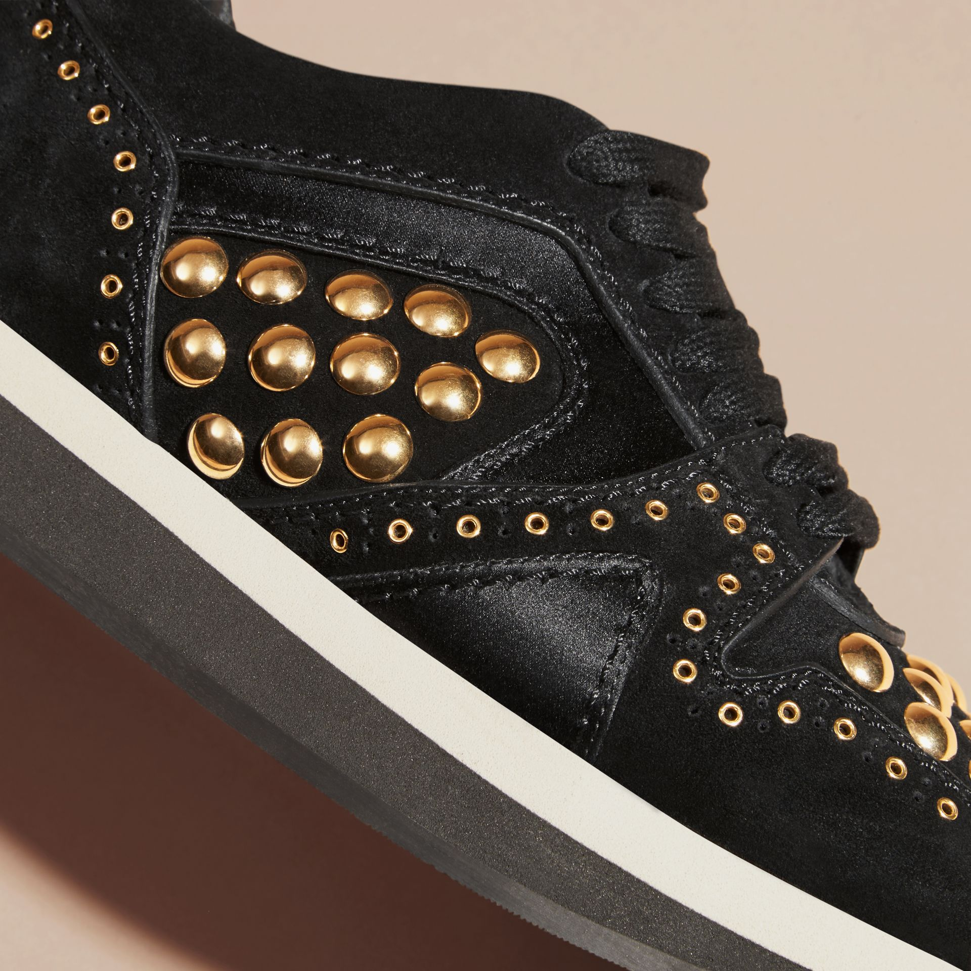 Black The Field Sneaker in Studded Suede Black - gallery image 2