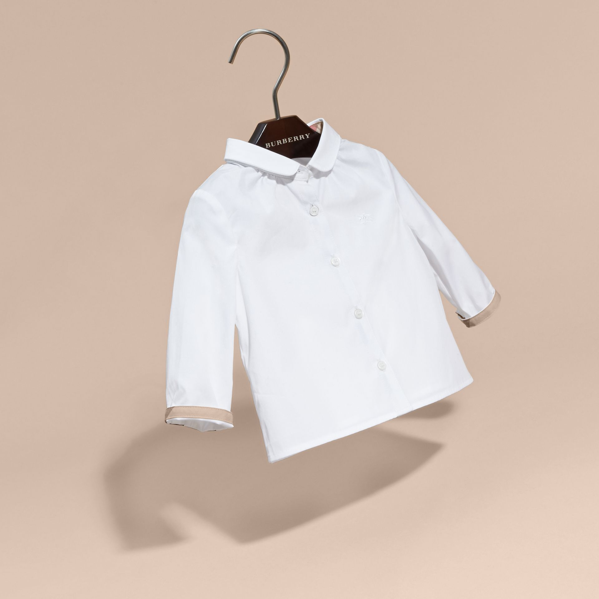White Peter Pan Collar Cotton Shirt - gallery image 3