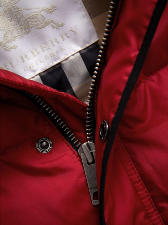 Down-filled Hooded Gilet in Parade Red | Burberry - cell image 1