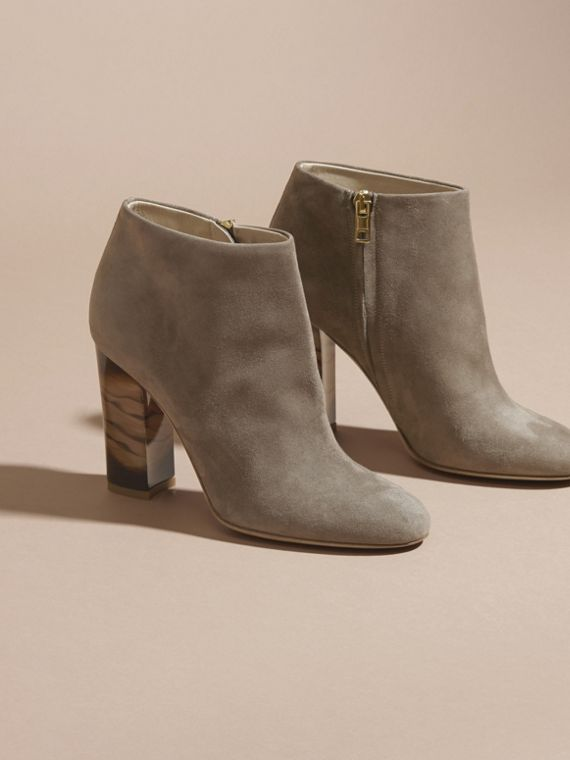 Dark heather melange Suede Ankle Boots - cell image 2