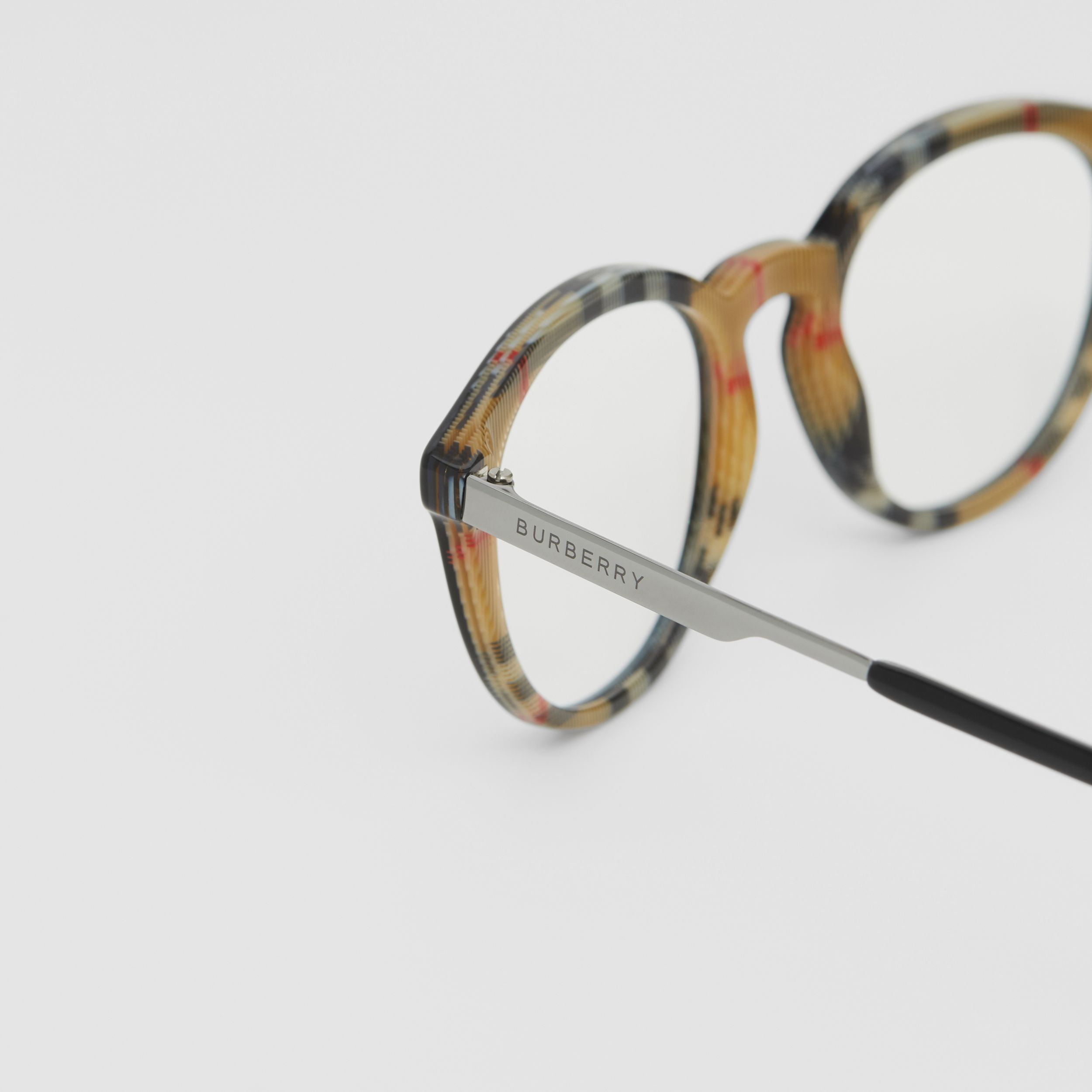 Round Optical Frames in Black/beige - Men | Burberry - 2