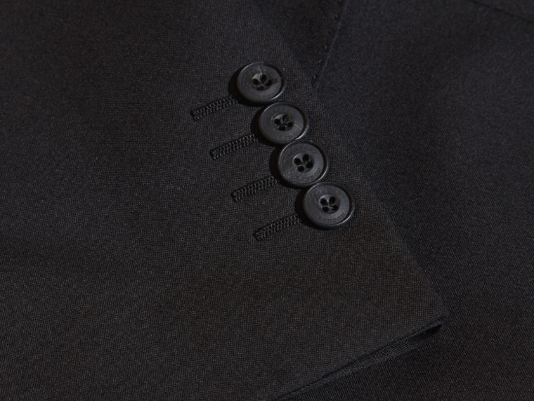 Modern Fit Wool Part-canvas Suit Black - cell image 1