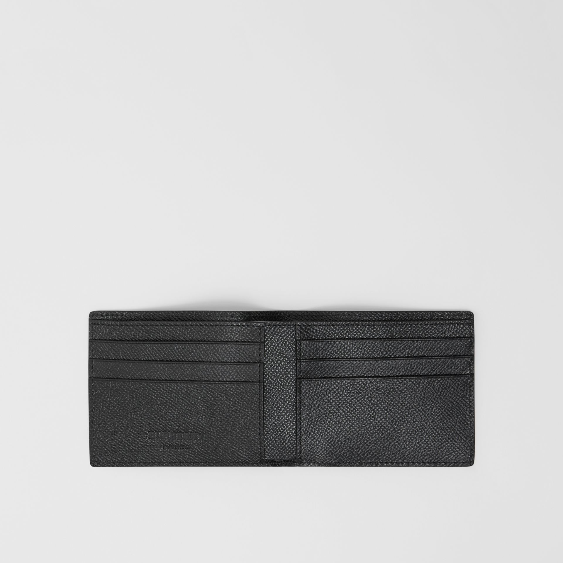 Grainy Leather Bifold Wallet in Black - Men | Burberry Canada - gallery image 2
