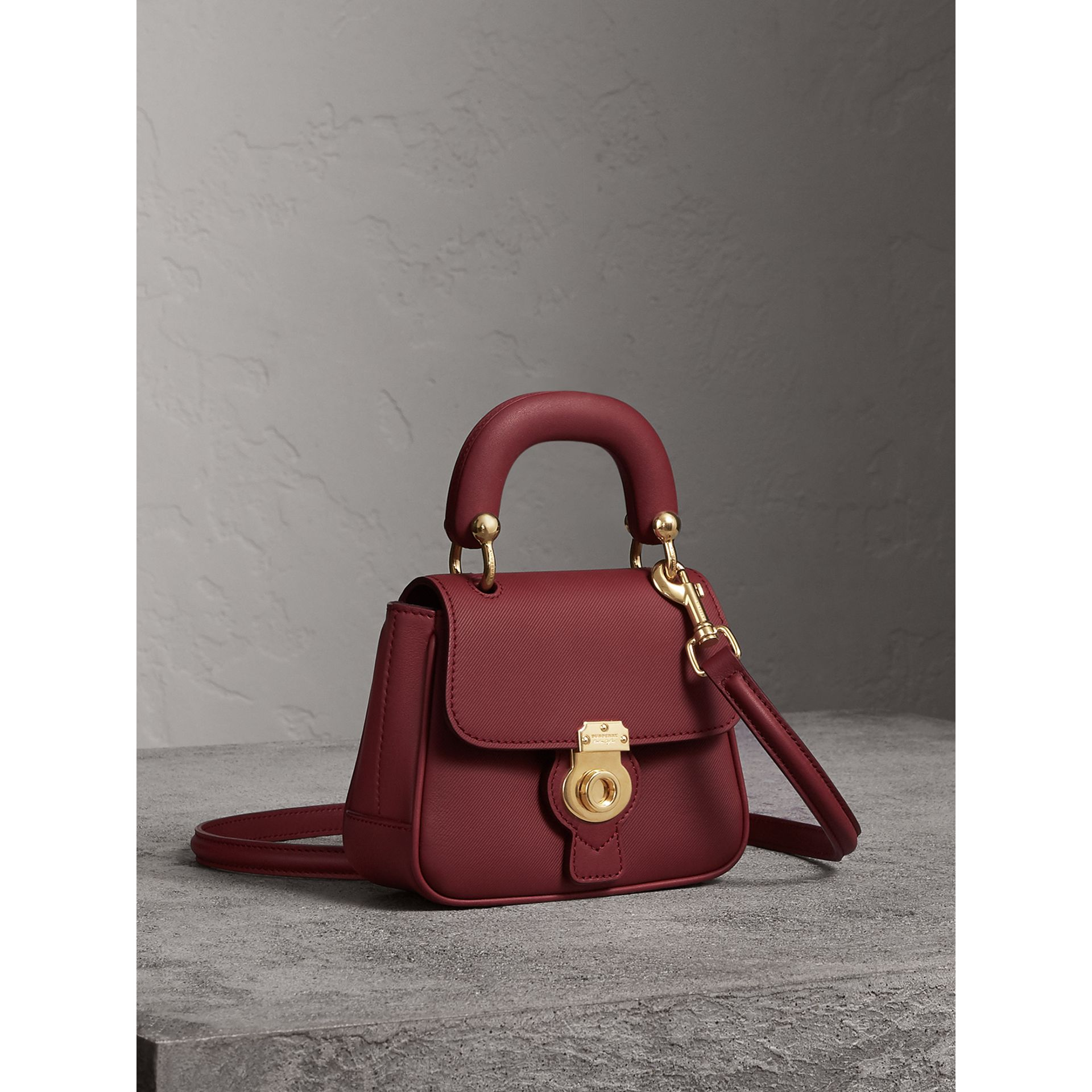 The Mini DK88 Top Handle Bag in Antique Red - Women | Burberry Canada - gallery image 6