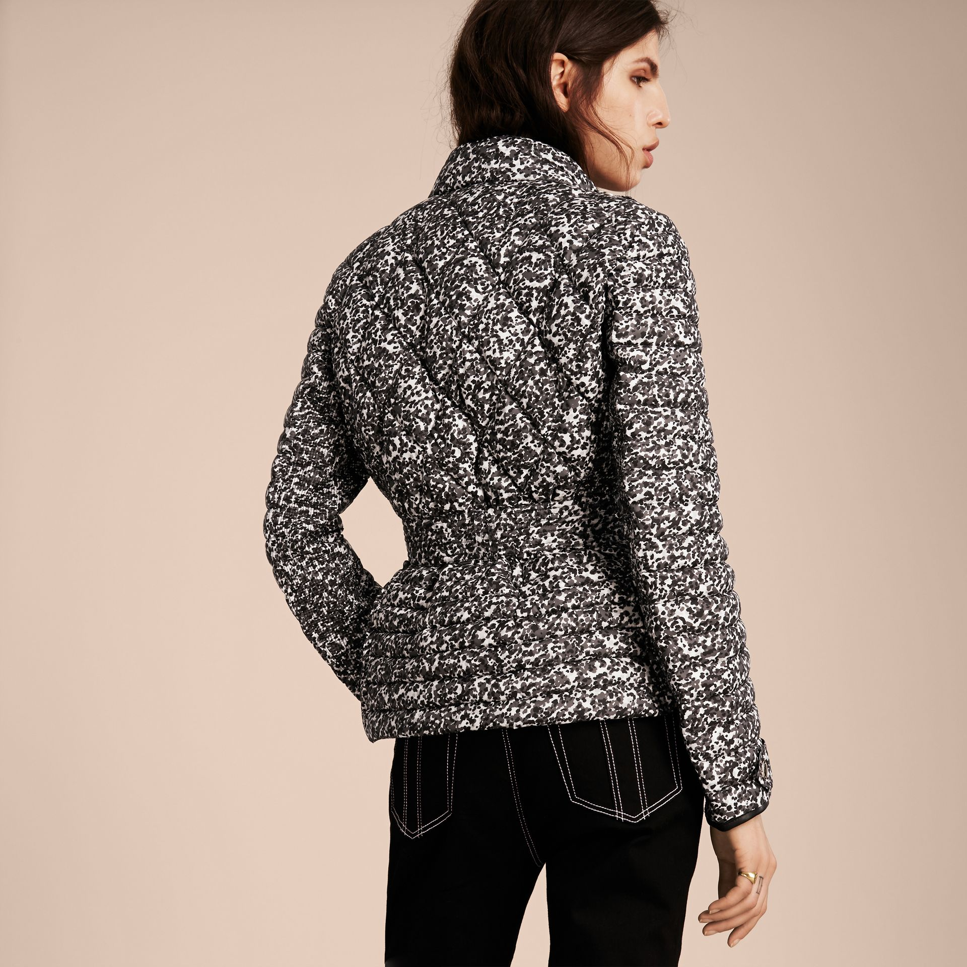 Mid grey Printed Down-filled Puffer - gallery image 3