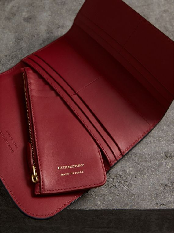 Leather Continental Wallet with Removable Coin Case in Parade Red - Women | Burberry Singapore - cell image 2