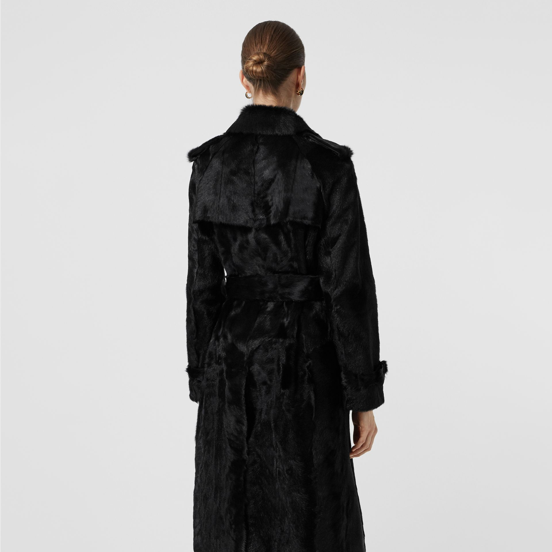 Goat Trench Coat in Black - Women | Burberry - gallery image 2