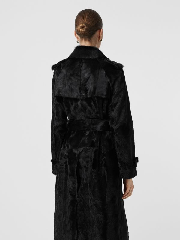 Goat Trench Coat in Black - Women | Burberry Australia - cell image 2
