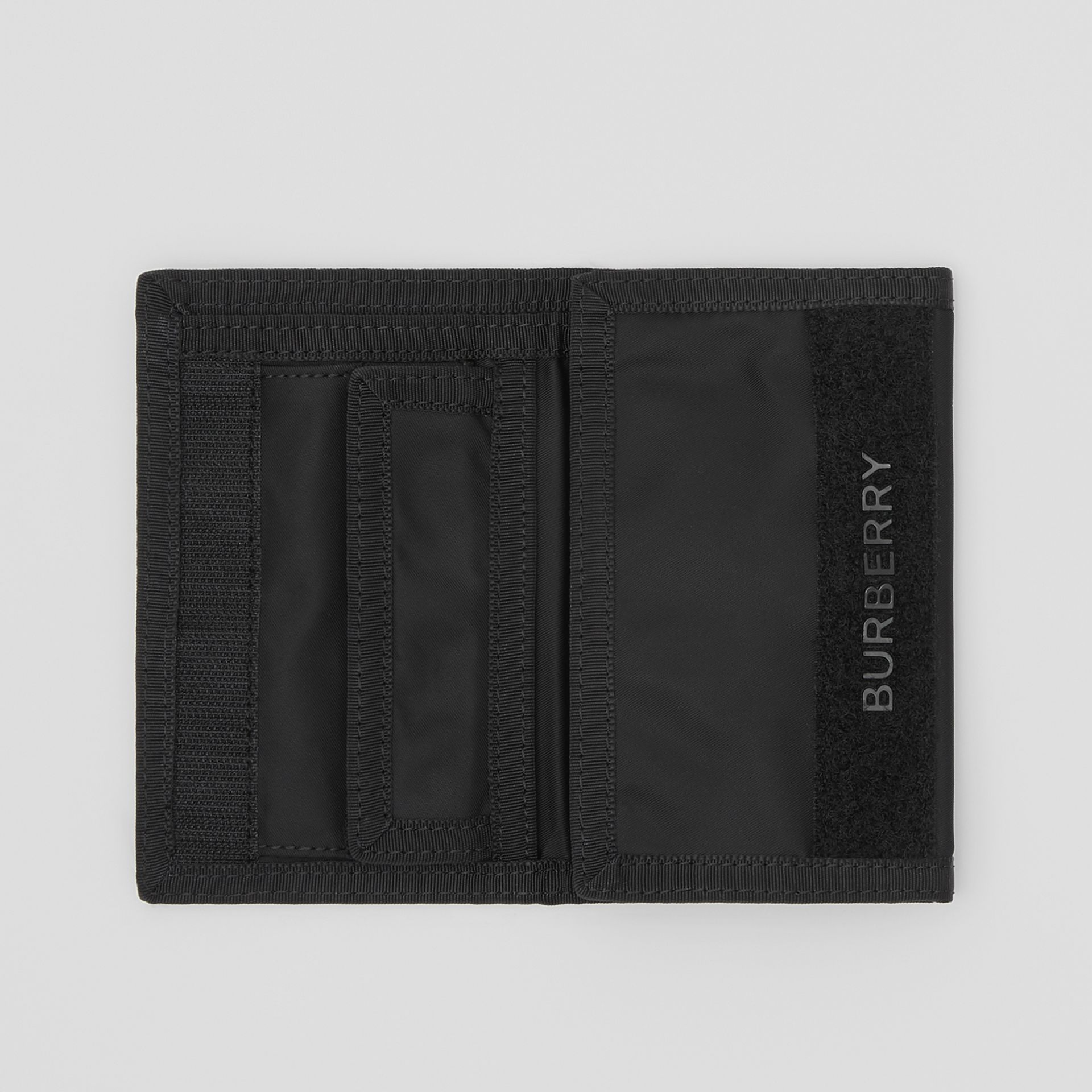 Logo Print Nylon Travel Wallet in Black/white - Men | Burberry - gallery image 5