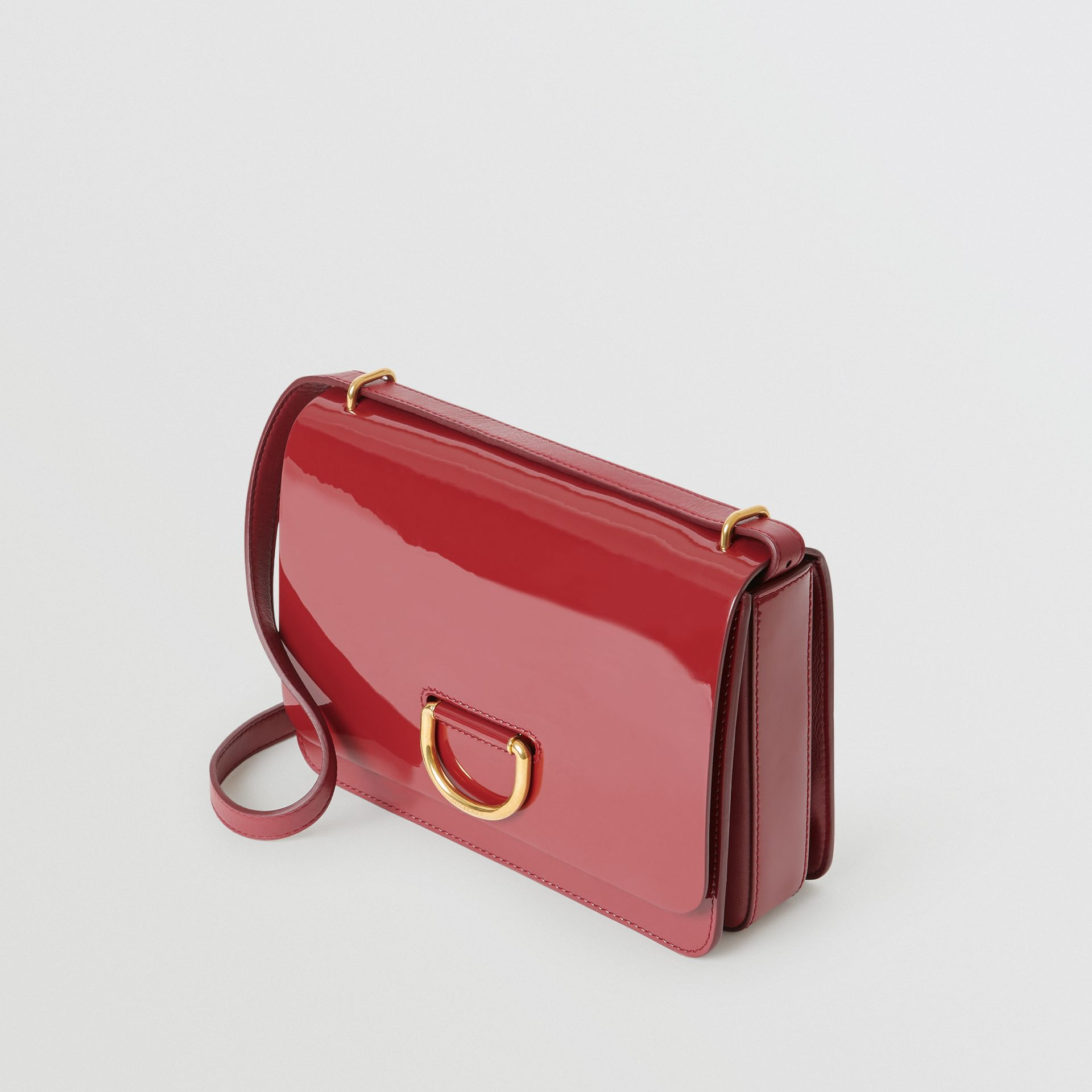 The Medium Patent Leather D-ring Bag in Crimson - Women | Burberry United Kingdom - gallery image 4