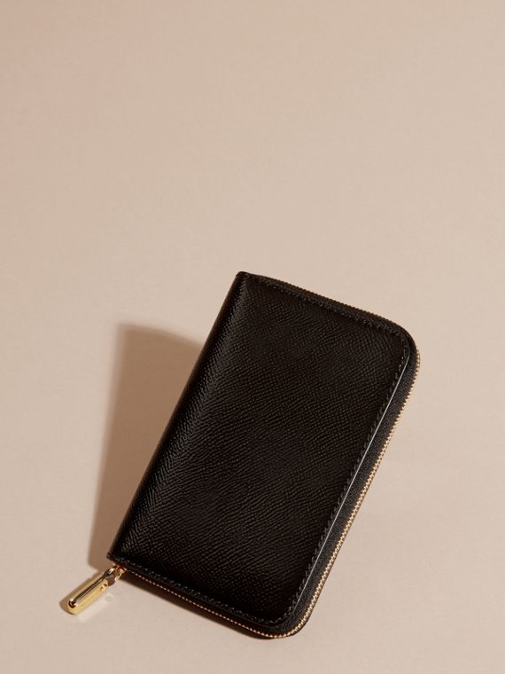 Patent London Leather Ziparound Wallet in Black - cell image 3
