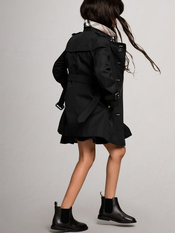 The Sandringham - Trench coat Heritage (Nero) - Bambina | Burberry - cell image 3