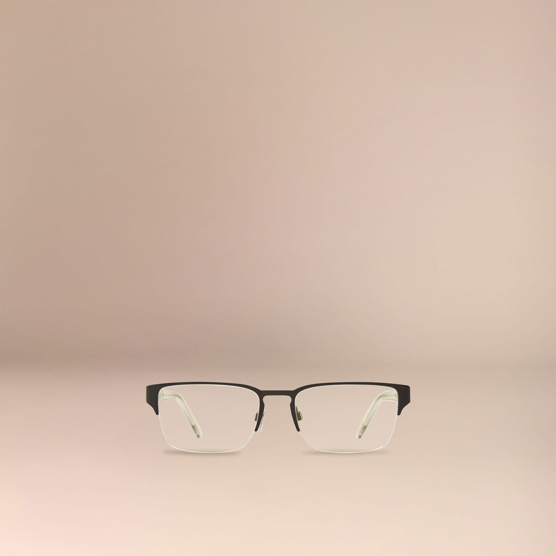 Check Detail Rectangular Optical Frames in Black - gallery image 2