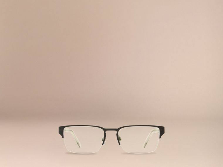 Check Detail Rectangular Optical Frames Black - cell image 1
