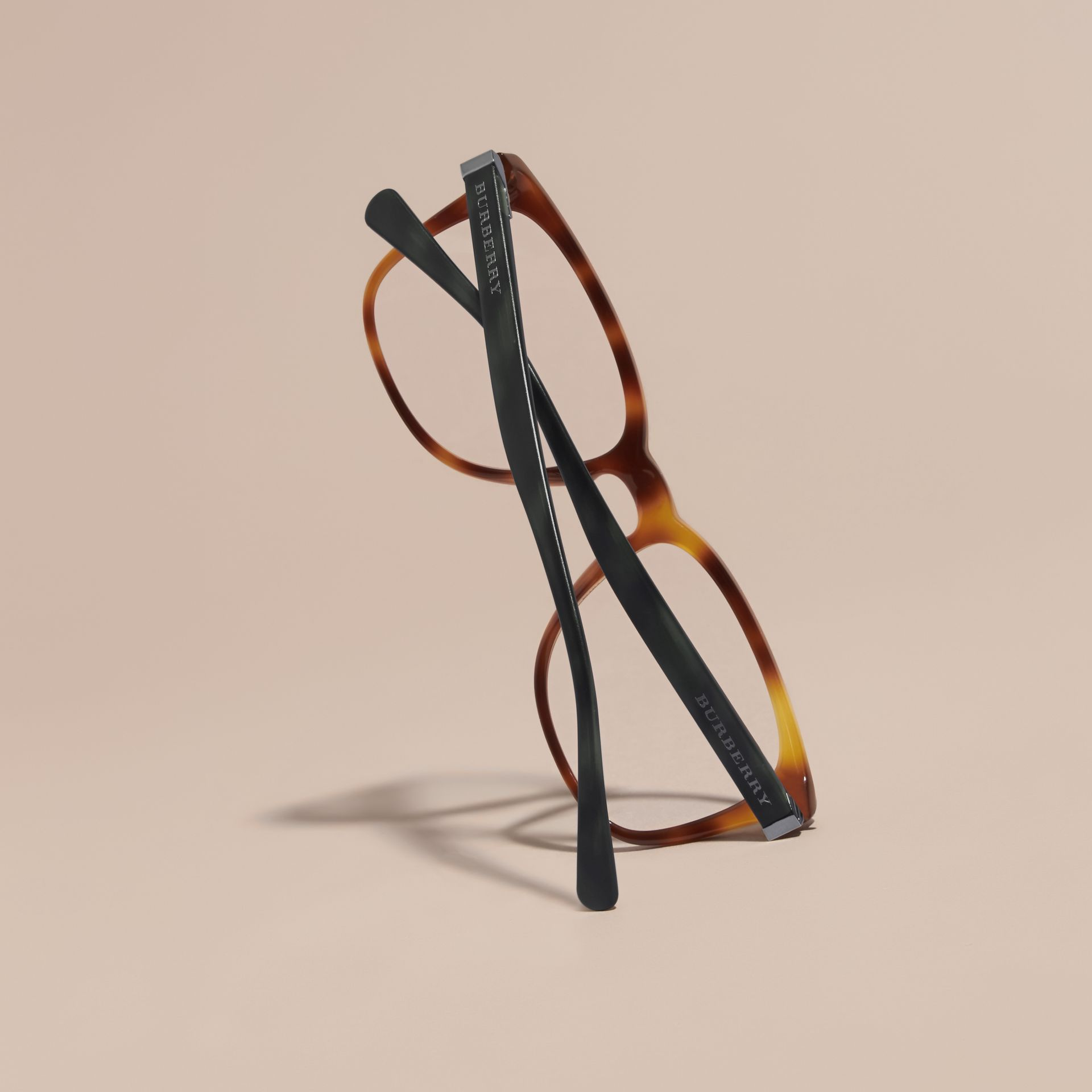 Square Optical Frames in Tortoise Shell - gallery image 4