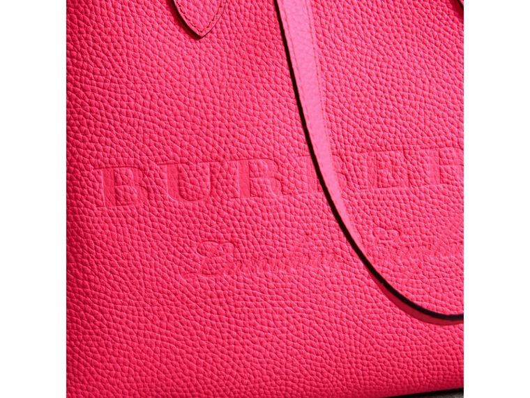 Embossed Leather Tote in Neon Pink | Burberry - cell image 1